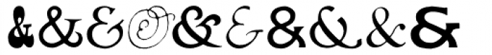 Ampersands One Font LOWERCASE