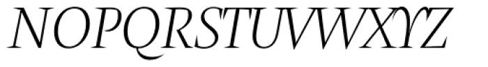 Amster Blanca Italica Font UPPERCASE