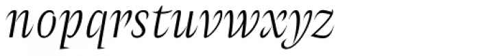 Amster Blanca Italica Font LOWERCASE