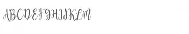 Amelia Kanny Font UPPERCASE