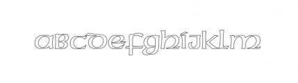 American Uncial D Outline Standard Font UPPERCASE