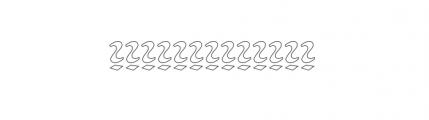 American Uncial D Outline Standard Font LOWERCASE