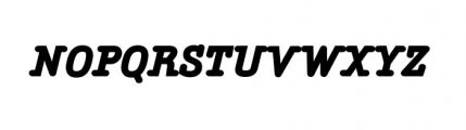 Aminta Complete Black Italic Font UPPERCASE