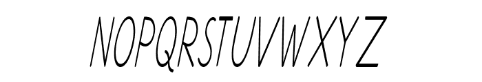 Ancron-ExtracondensedItalic Font UPPERCASE
