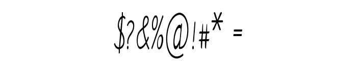 Ancron-ExtracondensedRegular Font OTHER CHARS