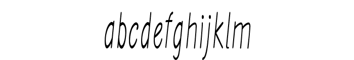Ancron-ExtracondensedRegular Font LOWERCASE