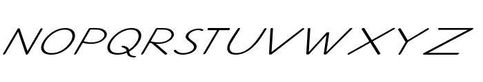 Ancron-ExtraexpandedItalic Font UPPERCASE