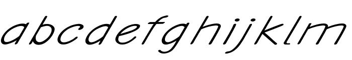 Ancron-ExtraexpandedItalic Font LOWERCASE