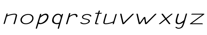Ancron-ExtraexpandedRegular Font LOWERCASE