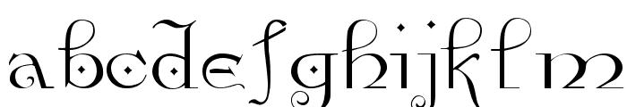 Anglophile Regular Font LOWERCASE