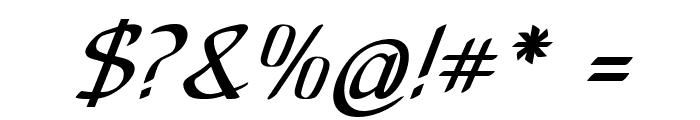 Anish-BoldItalic Font OTHER CHARS