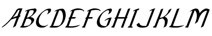 Anish-BoldItalic Font UPPERCASE
