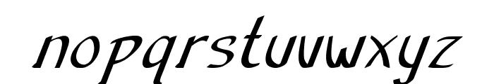 Anish-BoldItalic Font LOWERCASE