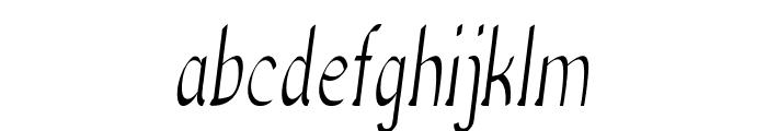Anish-CondensedRegular Font LOWERCASE