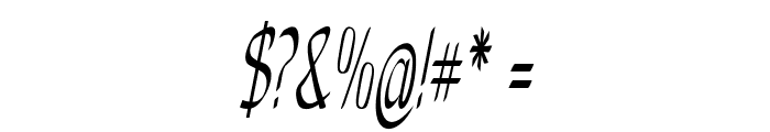 Anish-ExtracondensedItalic Font OTHER CHARS