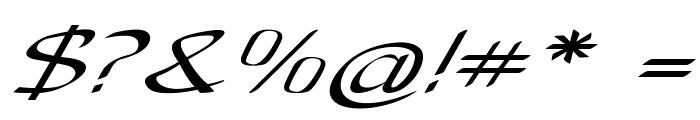 Anish-ExtraexpandedItalic Font OTHER CHARS