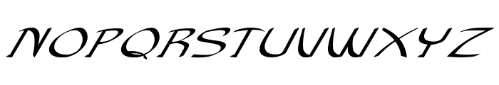 Anish-ExtraexpandedItalic Font UPPERCASE