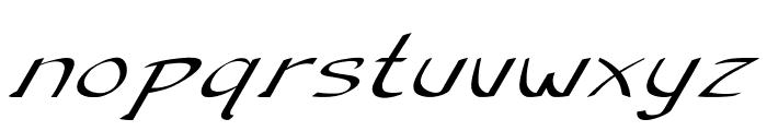 Anish-ExtraexpandedItalic Font LOWERCASE