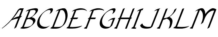 Anish-Italic Font UPPERCASE