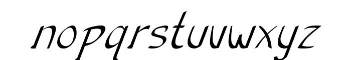 Anish-Italic Font LOWERCASE