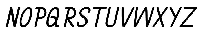 Annarvin-BoldItalic Font UPPERCASE