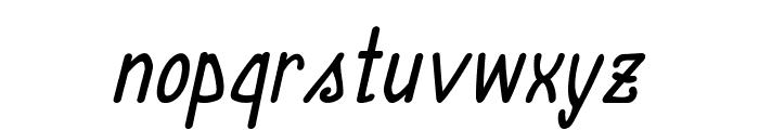 Annarvin-BoldItalic Font LOWERCASE
