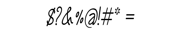 Annarvin-CondensedItalic Font OTHER CHARS