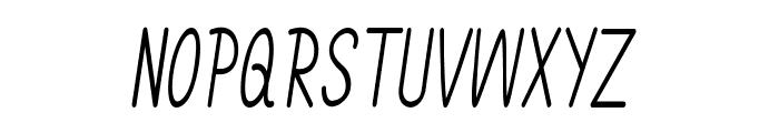 Annarvin-CondensedItalic Font UPPERCASE