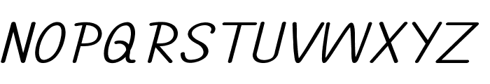 Annarvin-ExpandedItalic Font UPPERCASE