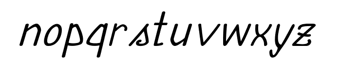 Annarvin-ExpandedItalic Font LOWERCASE