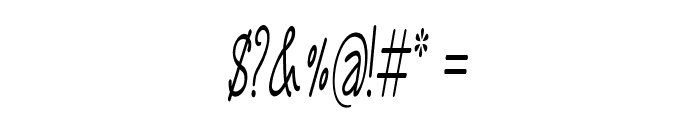 Annarvin-ExtracondensedItalic Font OTHER CHARS