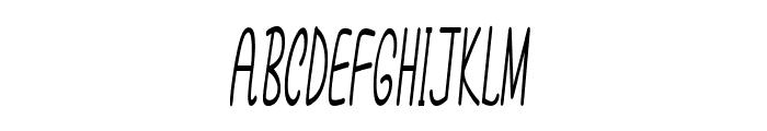 Annarvin-ExtracondensedItalic Font UPPERCASE