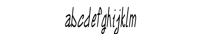 Annarvin-ExtracondensedItalic Font LOWERCASE