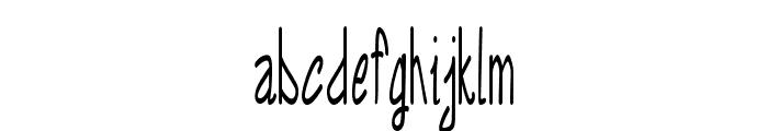 Annarvin-ExtracondensedRegular Font LOWERCASE
