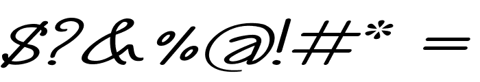 Annarvin-ExtraexpandedItalic Font OTHER CHARS