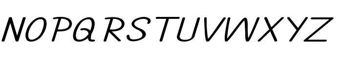 Annarvin-ExtraexpandedItalic Font UPPERCASE