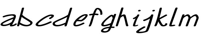 Annarvin-ExtraexpandedItalic Font LOWERCASE