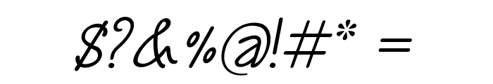Annarvin-Italic Font OTHER CHARS