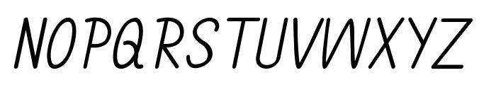 Annarvin-Italic Font UPPERCASE