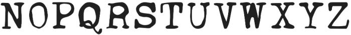 Ana's Jumpy Typewriter otf (400) Font UPPERCASE