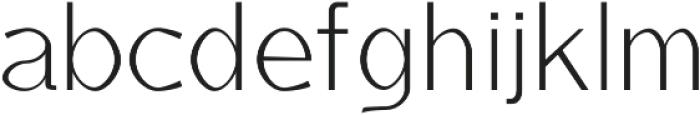 Anaan Light otf (300) Font LOWERCASE