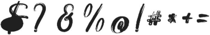 Anaconda otf (400) Font OTHER CHARS