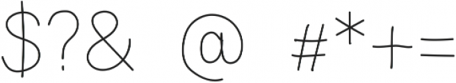 Analogis Light ttf (300) Font OTHER CHARS