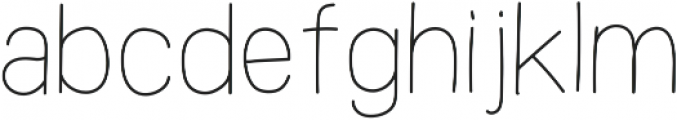 Analogis Light ttf (300) Font LOWERCASE