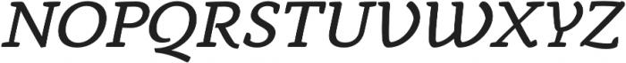 Anaphora Book Italic otf (400) Font UPPERCASE