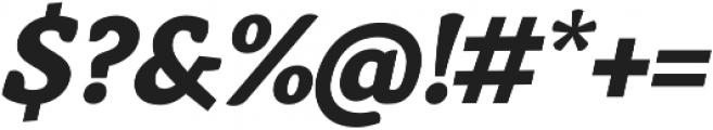 Anaphora ExtraBold Italic otf (700) Font OTHER CHARS