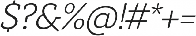 Anaphora Light Italic otf (300) Font OTHER CHARS
