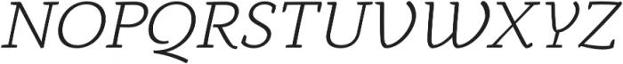Anaphora Light Italic otf (300) Font UPPERCASE