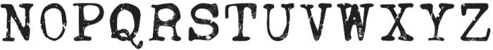 Ana's Faded Typewriter otf (400) Font UPPERCASE