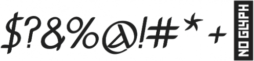Anchor Italic bold otf (700) Font OTHER CHARS